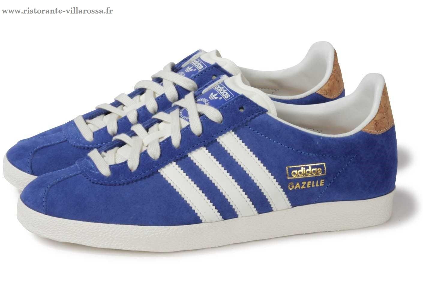 Adidas Baskets basses Gazelle Femme Bleu marine gl19625a