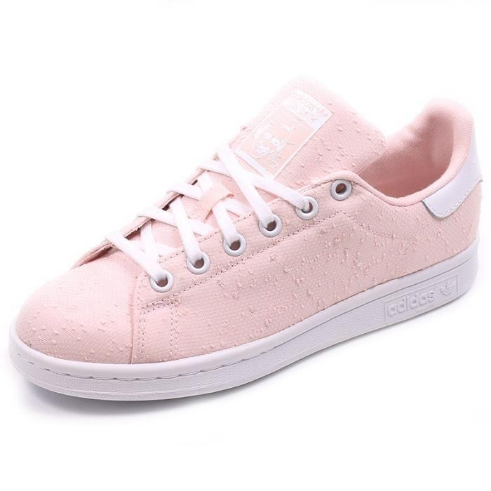 premier taux f60bc 6832f chaussure stan smith rose femme