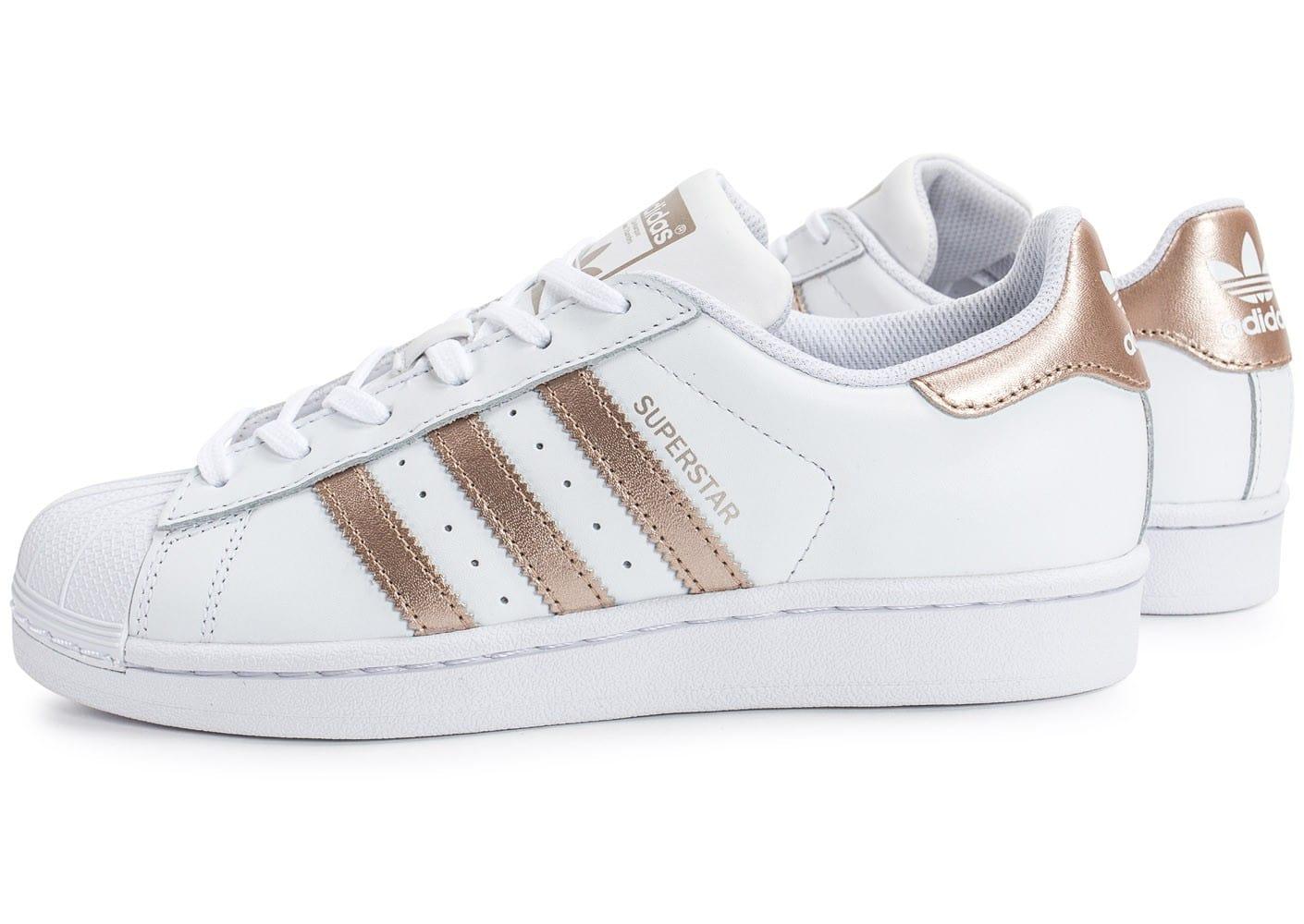 énorme réduction 1e5b9 7d9b8 chaussure superstar rose gold