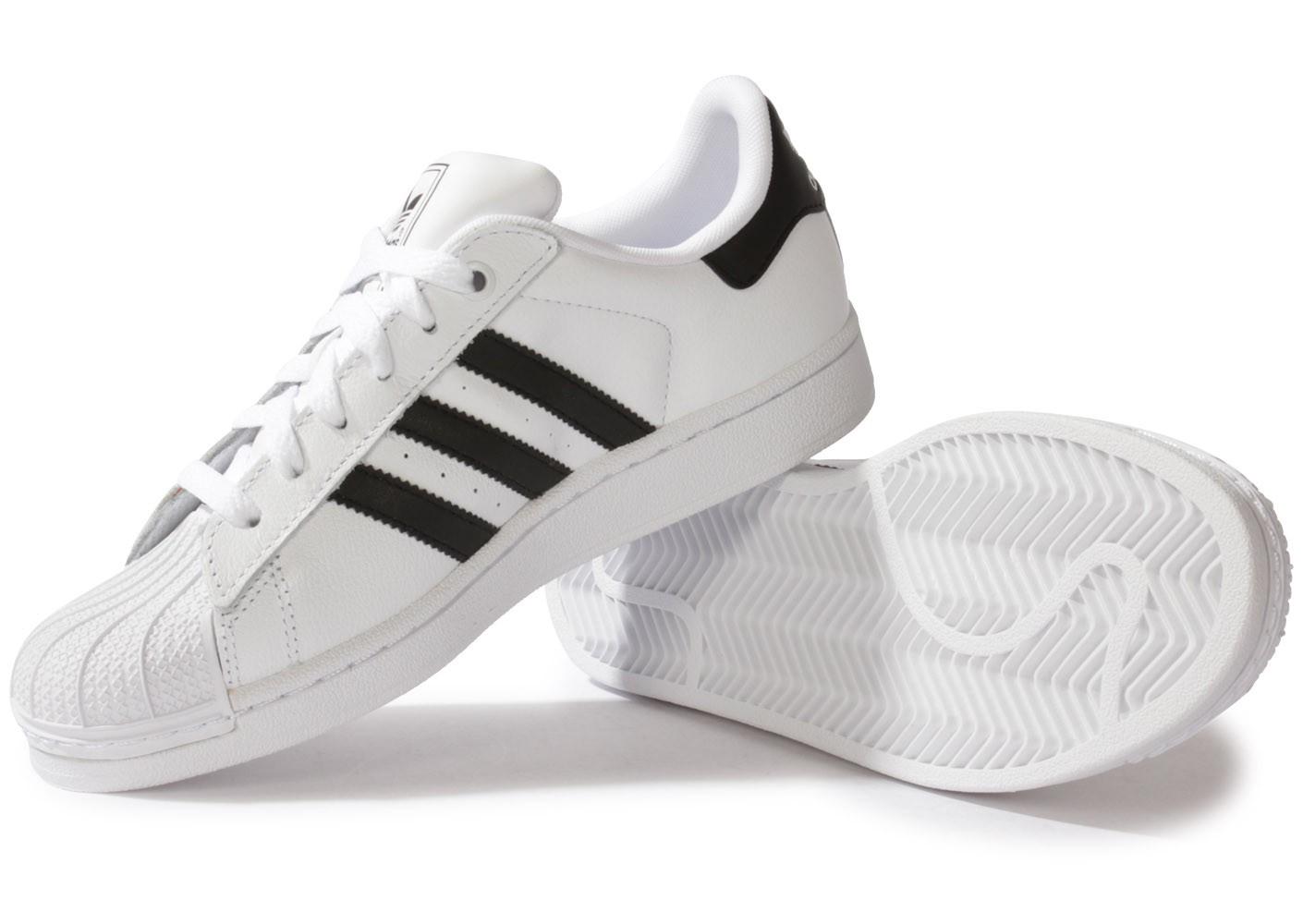 sélection premium 1df57 19b94 adidas superstar 2 femme noir et blanche
