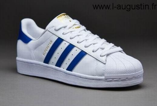 adidas superstar foundation blanc bleu