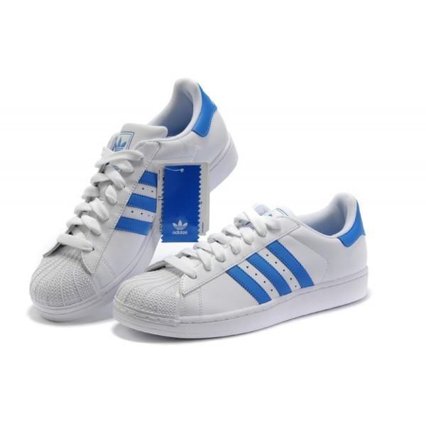 économiser a0aed 25fa7 adidas superstar bleu et blanche