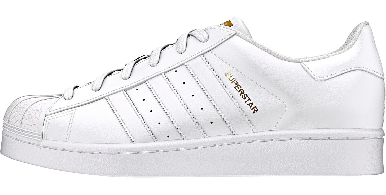 adidas superstar femme blanche et or