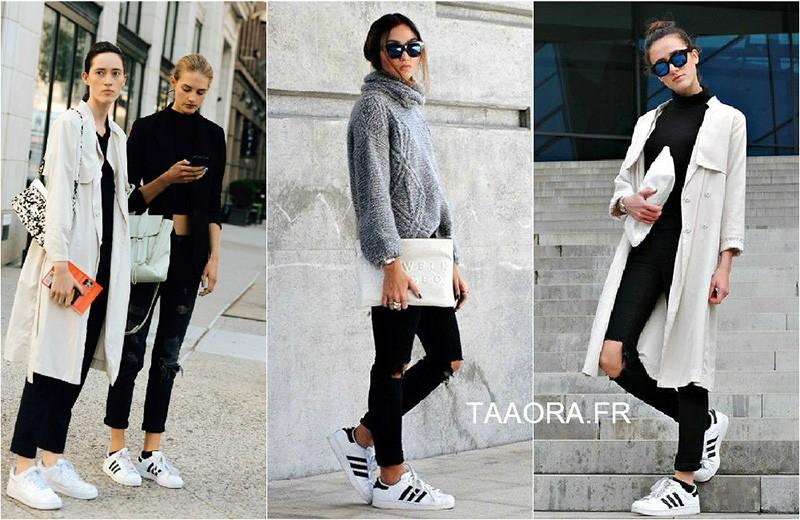 plus de photos 6e7f2 86dc6 adidas superstar femme portee