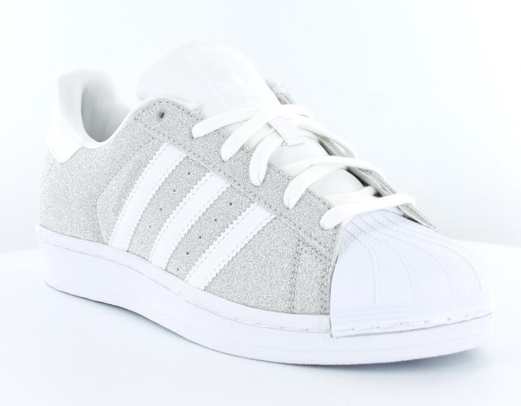adidas superstar grise et blanche femme 1