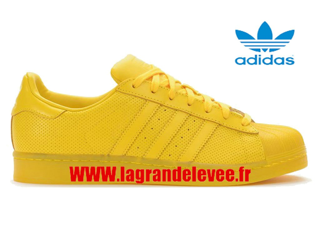 adidas superstars jaune