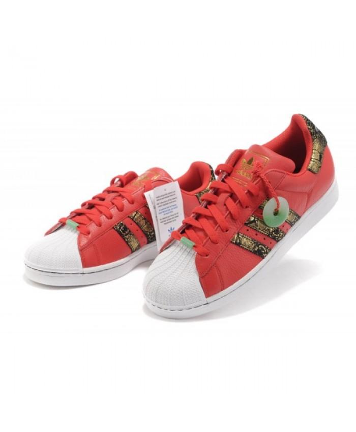 newest e5c41 67878 adidas Boutique Fran aise - Adidas Superstar animale S75158 Rouge   Blanc    Or Marque Nouveau Net adidas superstar animaux chaussures rouge blanc ...