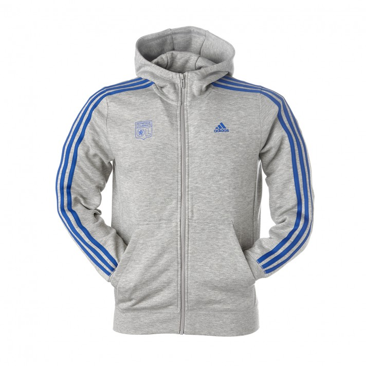 sweat adidas gris bleu