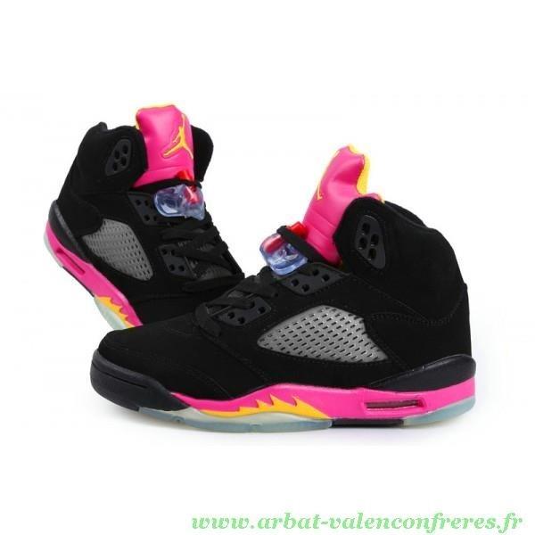 nouveau concept a7110 6e86a air jordan fille rose et noir