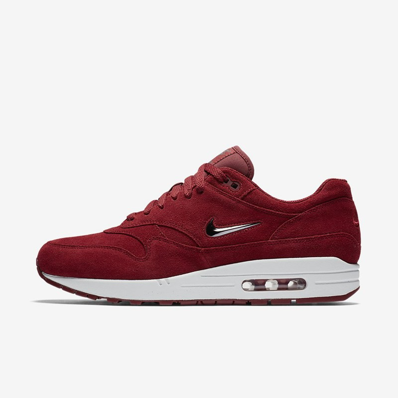 new style 3ea8c 85130 Nike Air Max 1 Premium SC Rouge   Métallique Gris foncé Chaussures en gros.  Sale Baskets Nike Homme  u2013 Baskets basses Air Max ...