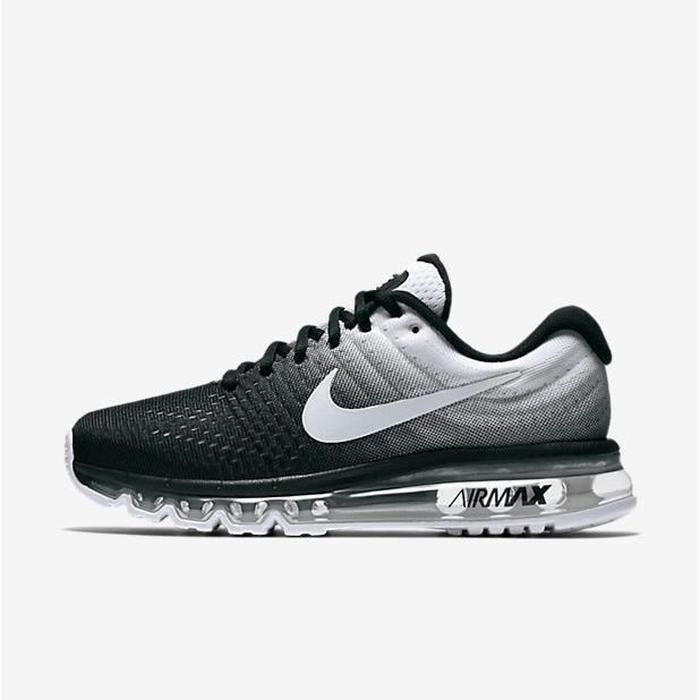 huge discount eb523 6c0ef Baskets Nike Air Max 2017 femme, Chaussures de Running femme noir et blanc  Taille 39 ...