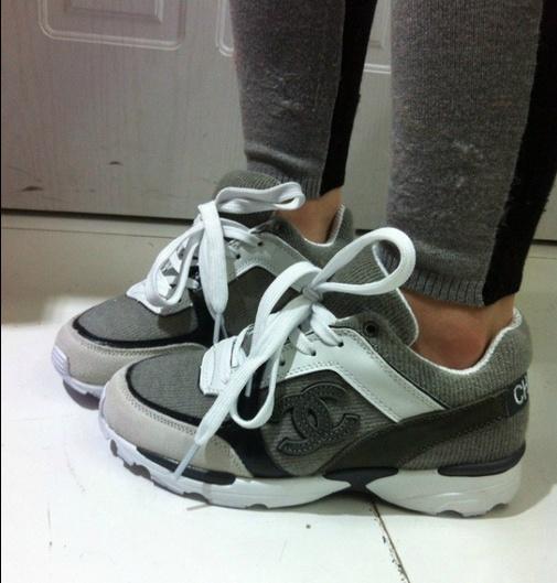 chaussure chanel grise 1 76907e921e1