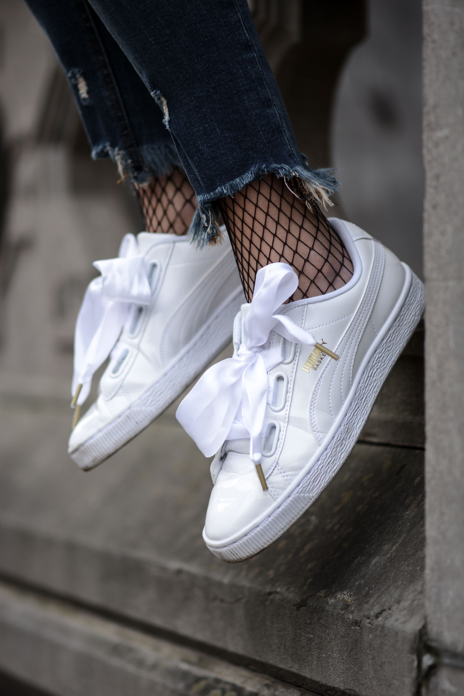 chaussure puma femme avec noeud