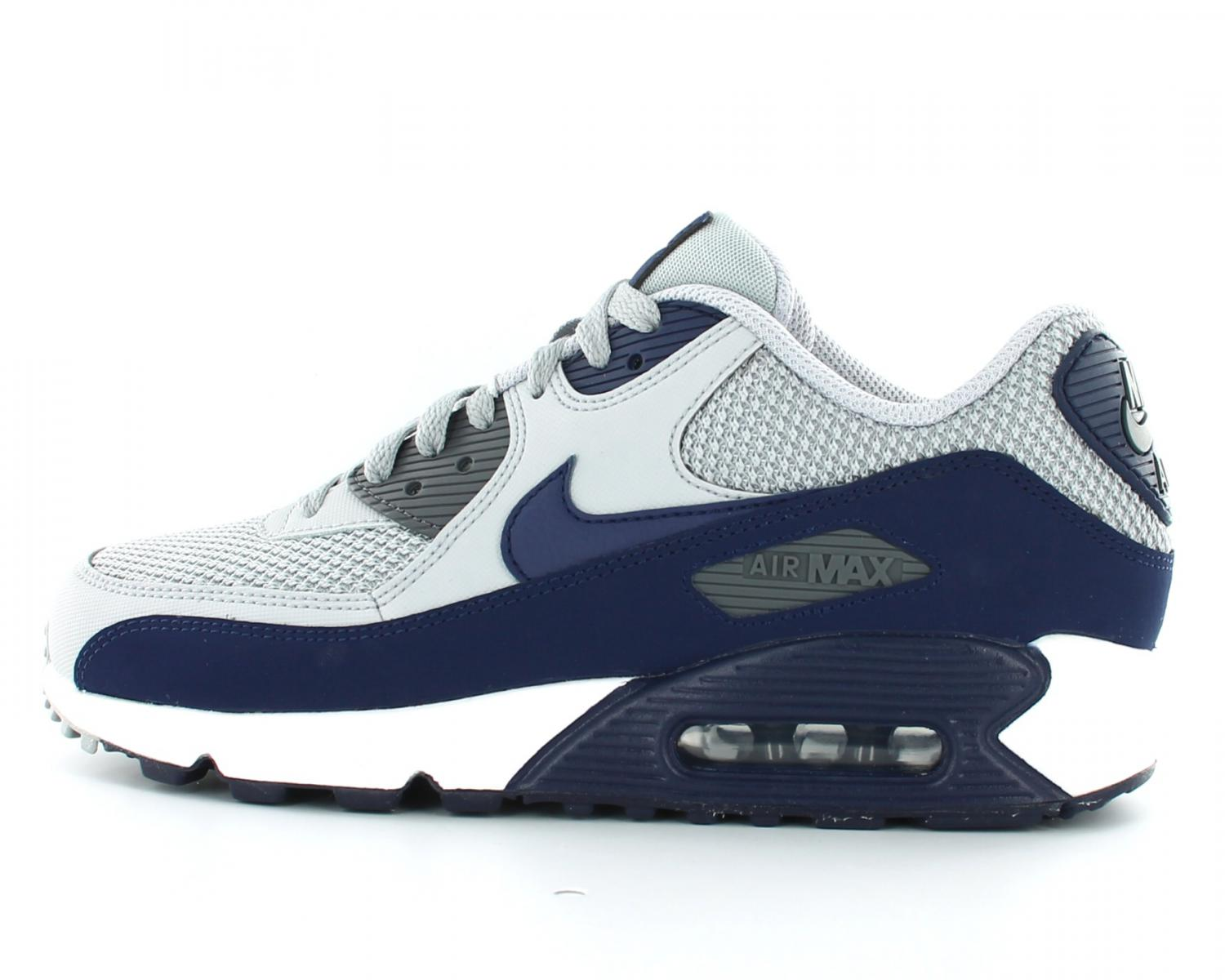 pretty nice a2b93 1d01b Chaussures Nike Air Max 90 Essential grise et bleue vue intérieure ... Nike  Air Max 90 Femme Blanche NG3600638 Soldes France Boutique HTF