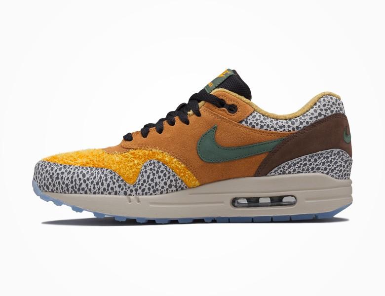 NIKEiD Air Max 1 Ultra Flyknit Safari Cheetah Sneaker Bar