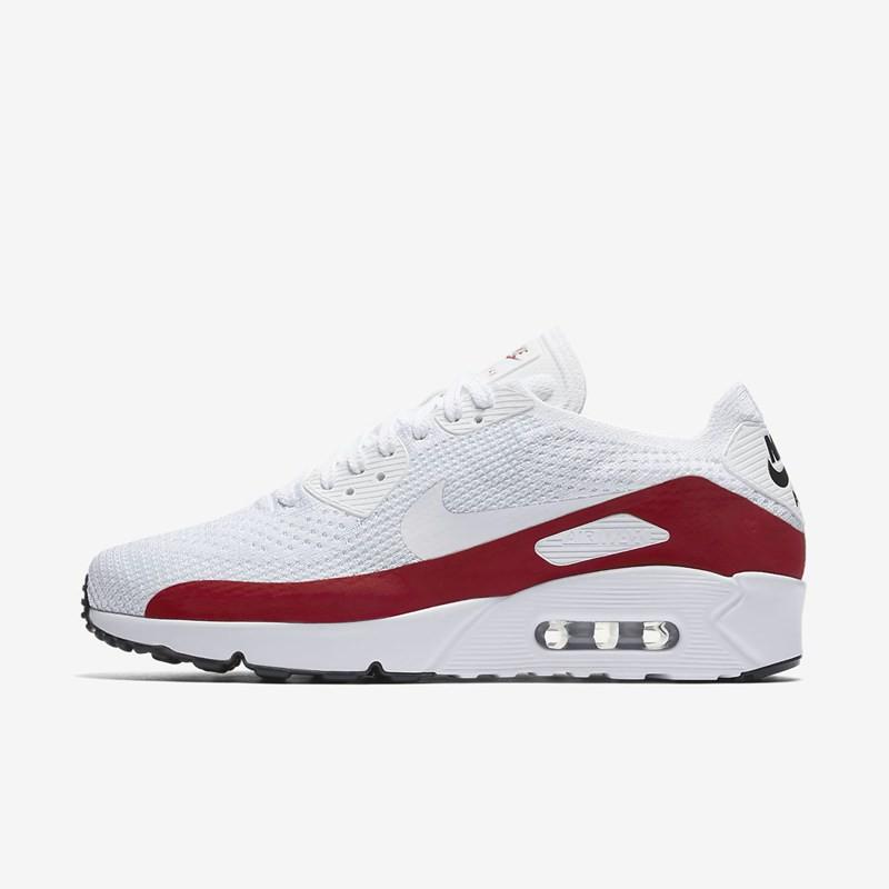 Nike Air Max 90 Mesh Gs Blanc Gris Rouge ... Chaussures Nike Air Max 90  Mesh Junior blanche et rouge vue arrière . be942dde8437
