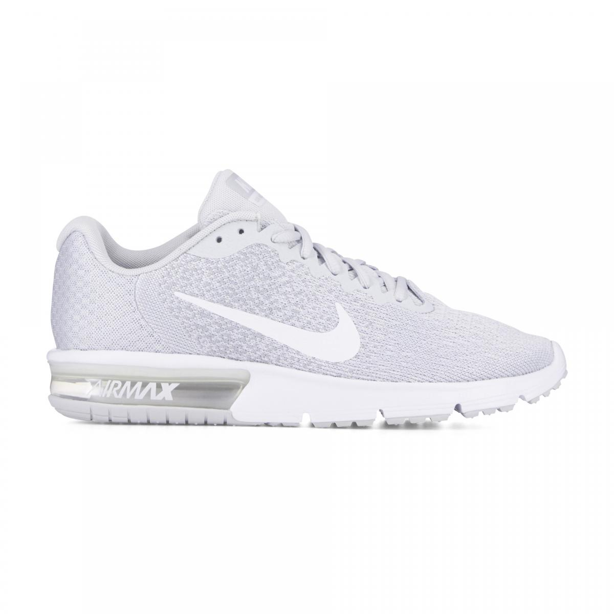 purchase cheap fa9f3 eb923 Homme Nike Air Max Sequent 2 Chaussures (Platine pure   Blanc   Wolf Gris) 852461  007 Boutique En Ligne Nike Air Max Sequent 2, Chaussures de Running ...