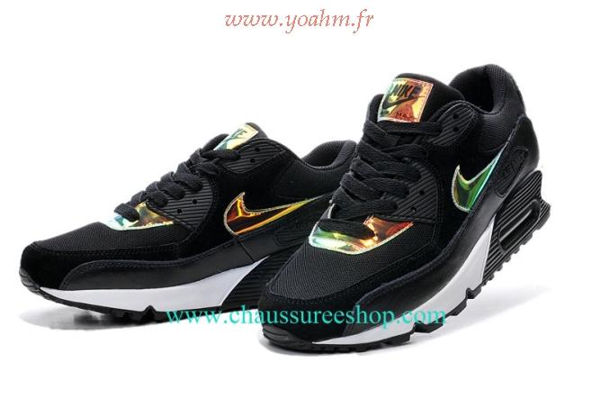 chaussures de sport d8fc0 55a22 nike air max 90 noir et dore