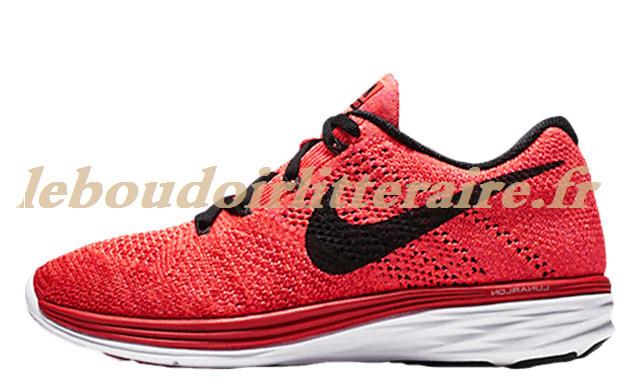 premium selection f49fb 8bb07 Inhabituel Nike - Flyknit Lunar 3 Trainers (m) - Noir Rouge FR Online2071161395  Praticable University ...
